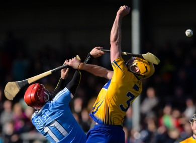 Clare's Cian Dillon and Ryan O'Dwyer of Dublin.