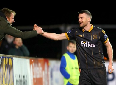 Dundalk's Ciarán Kilduff celebrates scoring his side's third goal.