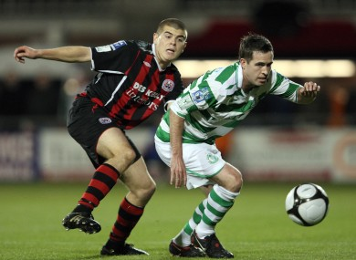 Stephen Bradley against Conor Powell of Bohemians back in 2009.