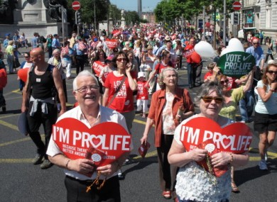 A Dublin march organised by the Pro-Life Campaign.