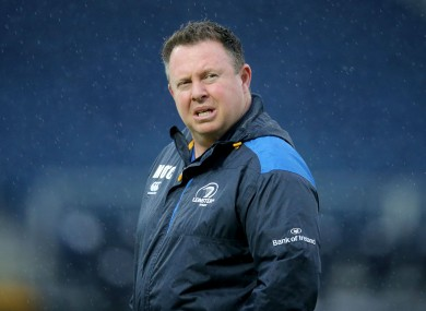 O'Connor was sacked by Leinster in 2015.