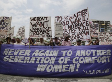 Filipino women activists, some saying they were
