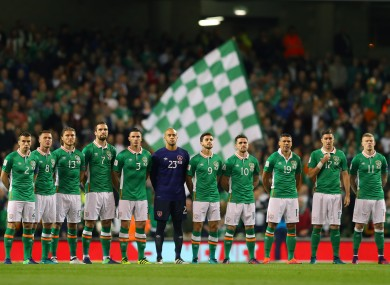 The Ireland team that played Georgia back in October.