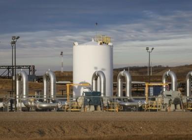 TransCanada's Keystone pipeline facilities are seen in Hardisty, Alberta.