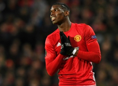 Paul Pogba (file pic).