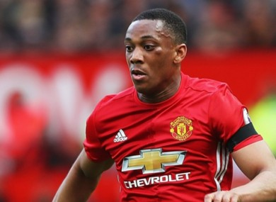 Anthony Martial has struggled for first-team action this season.