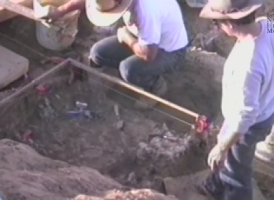 No human remains were actually found at the site in California.