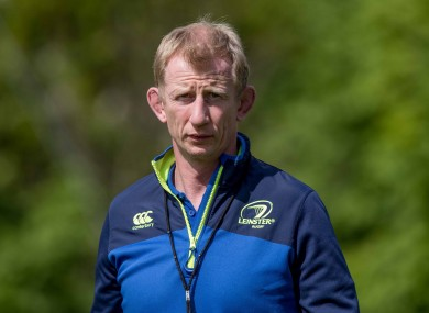 Leinster head coach Leo Cullen.