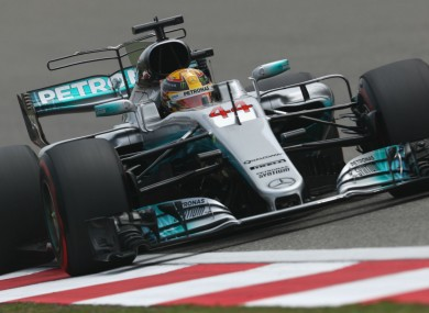 Lewis Hamilton during qualifying at the Chinese Grand Prix