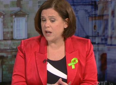 Sinn Féin's deputy leader Mary Lou McDonald.