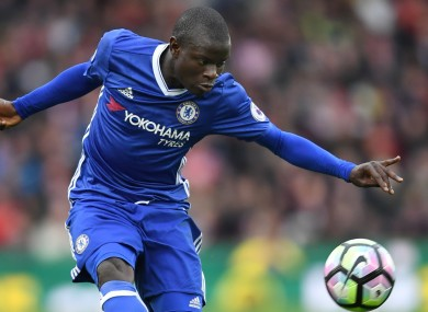 Kante has been key to Chelsea's title charge this season.