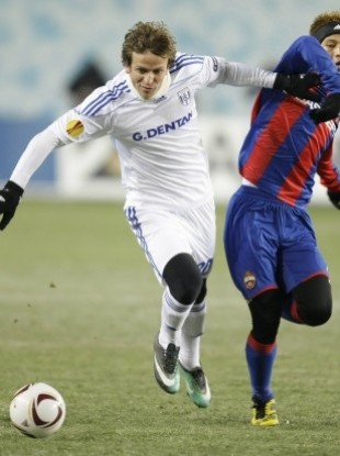 Rodrigo Tosi playing for Lausanne against CSKA Moscow in the Europa League.