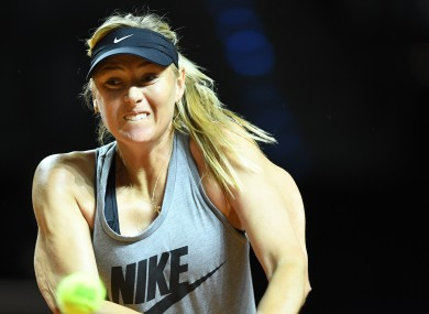 Maria Sharapova returns to professional tennis today.