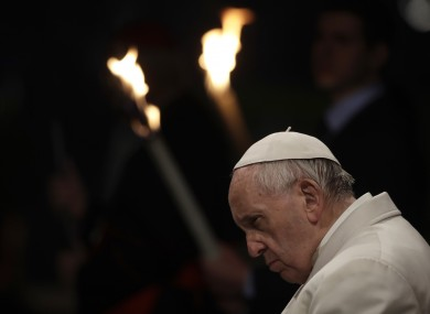 Pope Francis presides over the Via Crucis.