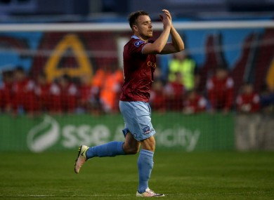 Vinny Faherty was on target for Galway tonight.