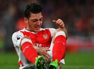Arsenal's Mesut Ozil was not happy at being required to undergo a drugs test after Sunday's defeat to Tottenham.