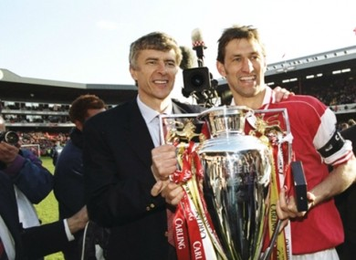 Arsene Wenger and Tony Adams won the Premier League together at Arsenal.