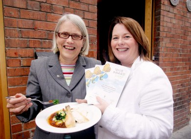 Darina Allen with Northern Ireland Agriculture and Rural Development Minister Michelle Gildernew.