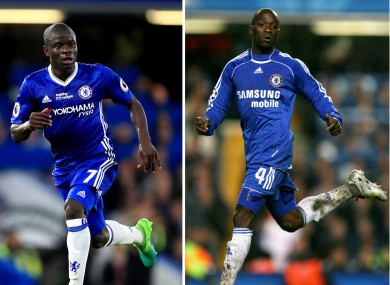 Kante and Makelele.