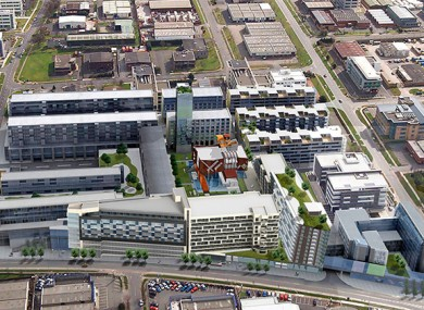 An artist's impression of the new site in south Dublin.