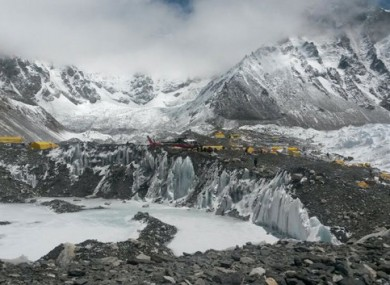 File photo of the Mount Everest base camp.