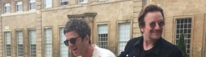 Michael Fassbender and Bono turned up to Noel Gallagher's birthday party and it looked like serious craic