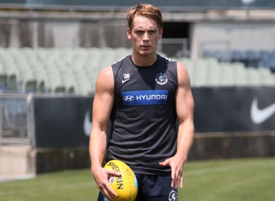 Ciaran Byrne moved to Carlton in 2013.