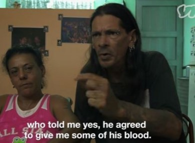 Yohandra Corvoso and her husband Gerson Govea in a Vice documentary about their situation.