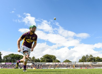 Matthew O'Hanlon faces Laois tomorrow with the Wexford hurlers.