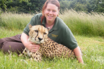 Rosa King, who died yesterday, pictured with a cheetah in 2015.