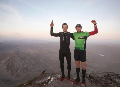 Stewart (left) and O'Farrell (right) completed the highest peaks challenge in record time.