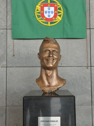 Despite the awful statues, Ronaldo is number when it comes to fame.