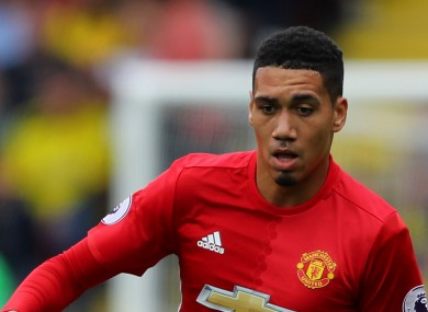 Chris Smalling has been one of the Man United players criticised by Jose Mourinho this season.