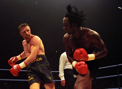 Collins and Benn in the ring back in 1996.