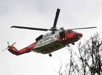 File photo. Coast Guard rescue helicopter