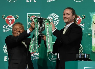 Former Arsenal midfielder Emmanuel Petit was on hand to draw the teams.