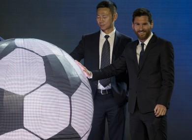 Lionel Messi announces the plans for the 'Messi Experience Park' in China.