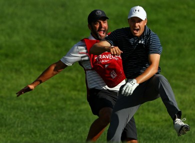 Michael Greller (left) and Jordan Spieth