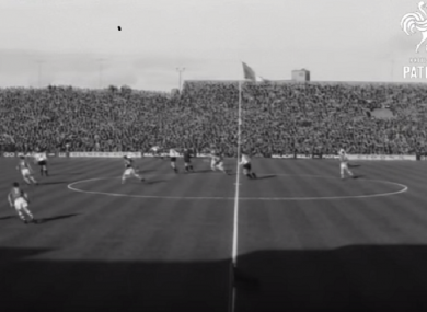 An image from Ireland's 1963 clash with Austria.