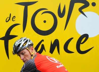 Lance Armstrong competing at the Tour de France in 2010