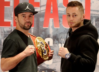 Bristol's IBF world bantamweight champion Lee Haskins (left) and Ryan Burnett are set to compete.