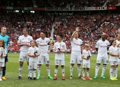 Duff took part in Michael Carrick's testimonial at Old Trafford earlier this month.