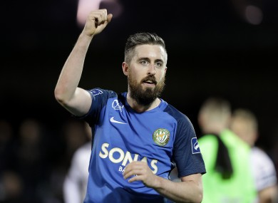 Mark Salmon was on target for Bray this evening.