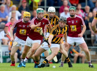 Kilkenny's Jason Cleere challenges Westmeath's Michael Daly.