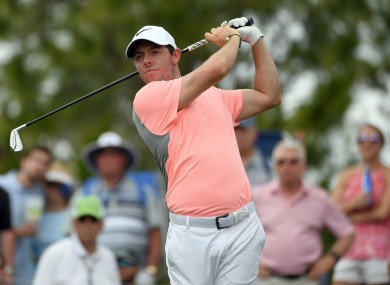 Rory McIlroy is due to make his competitive return from injury next week.
