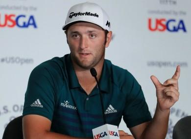 Spanish golfer Jon Rahm