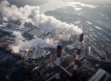 Industrial zone of Kiev, Ukraine.