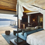 At the new Six Senses Zil Pasyon in the Seychelles, guests can kayak to Ile Cocos Marine National Park.<span class=