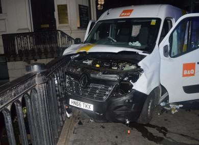 The van used by the attackers