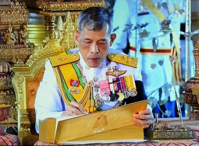 Thailand's new king Maha Vajiralongkorn, who continued with the prosecution after his father's death last year.